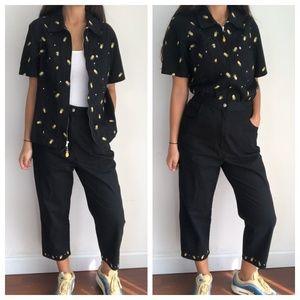 Vintage The Quacket Factory Pineapple pant suit M